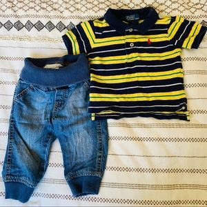 6-9m polo & jeans